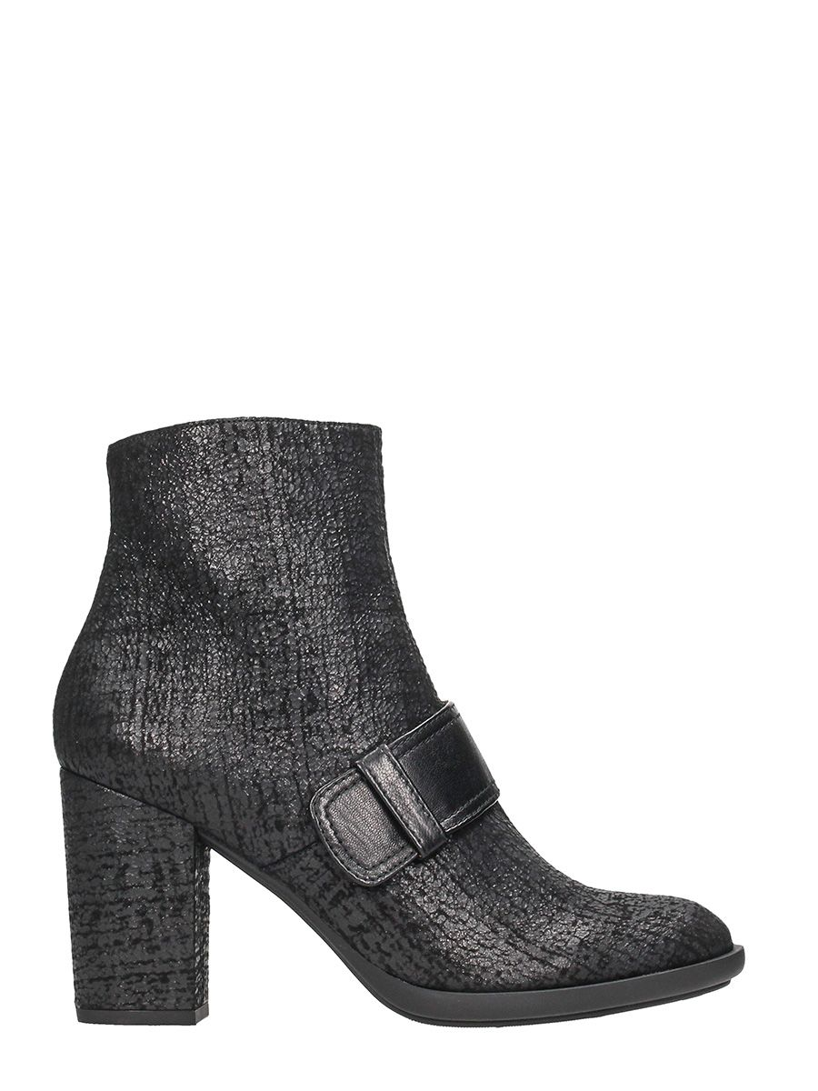 Chie Mihara Micca Black Leather Ankle Boots