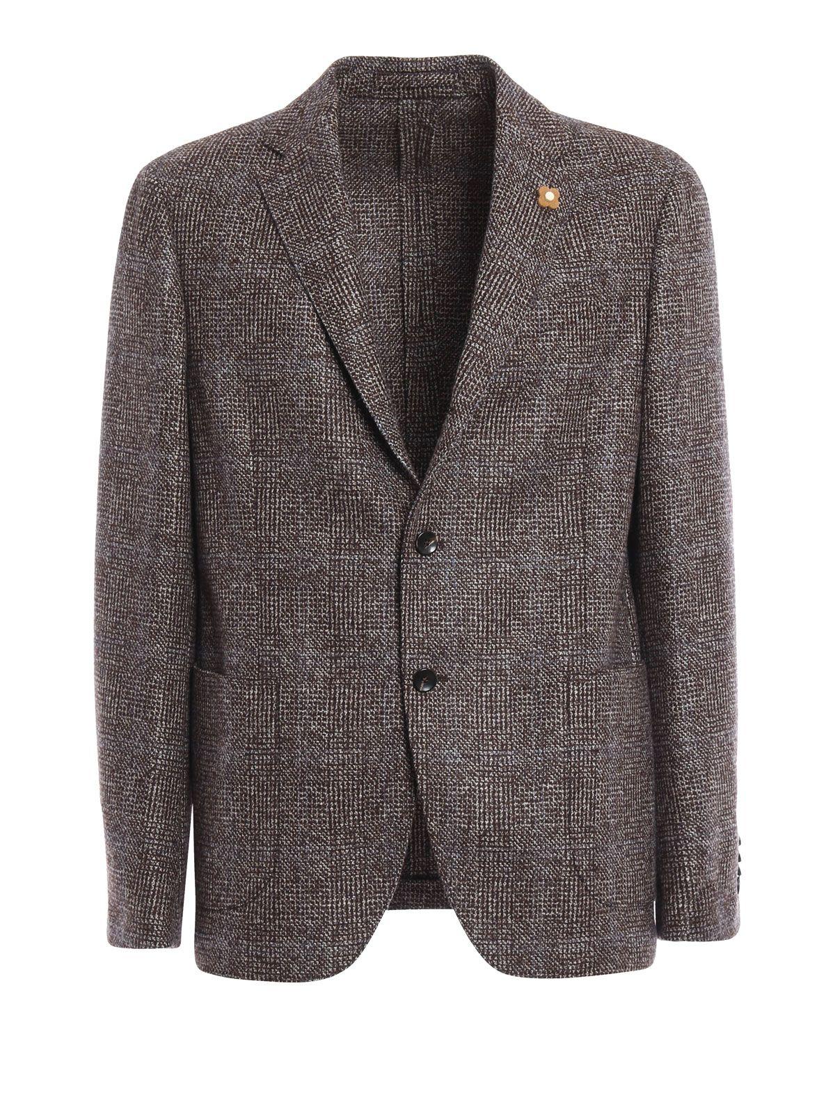 Lardini Wool Tweed Unlined Blazer