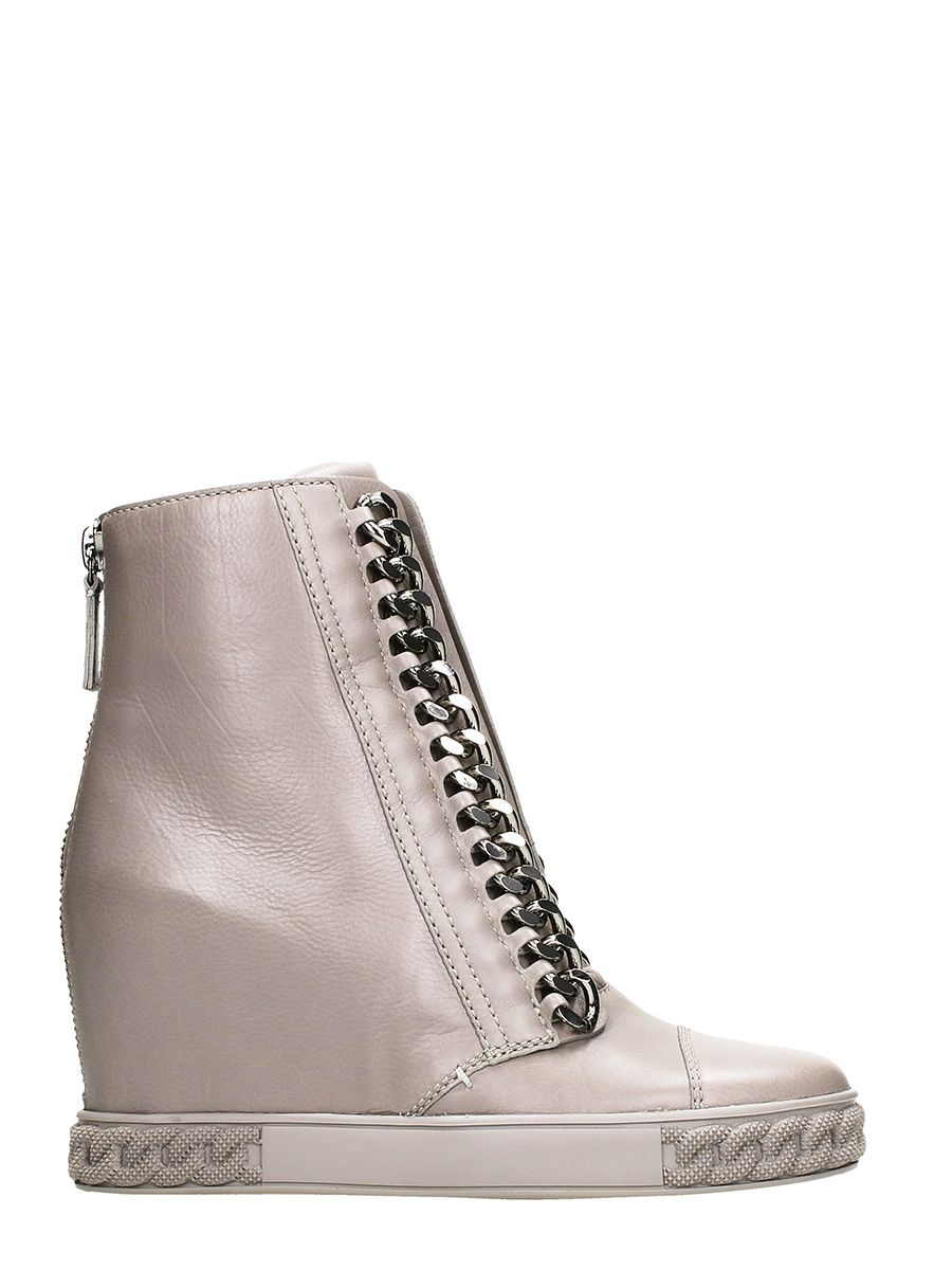Casadei Taupe Wedge Sneakers