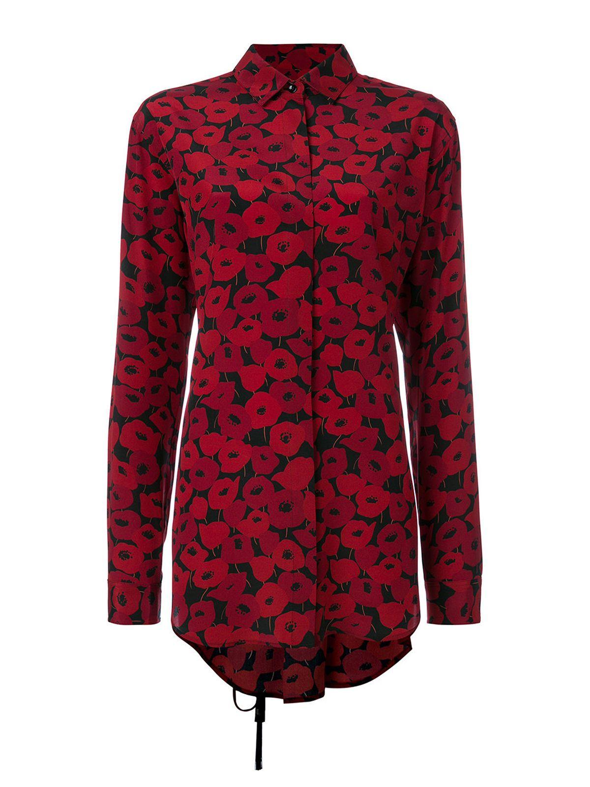 Saint Laurent Long Poppy Shirt