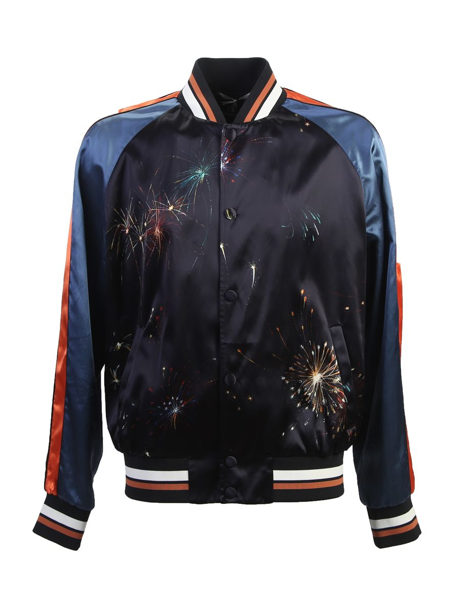 Satin Touch Fireworks Bomber Jacket