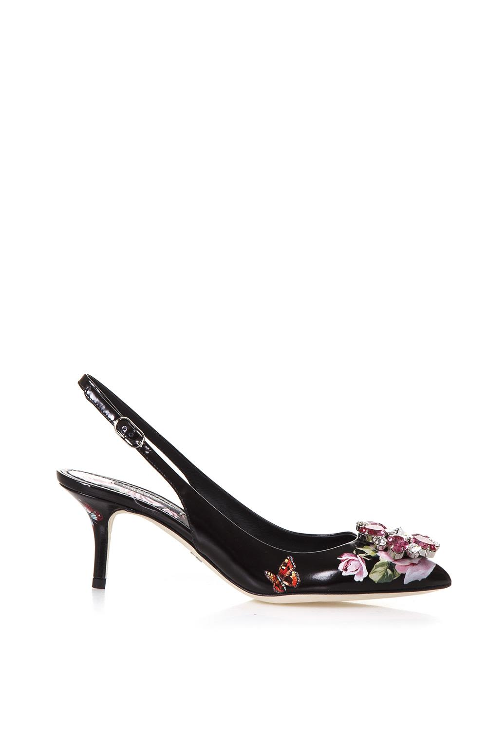 Dolce & Gabbana Slingback In Patent Leather