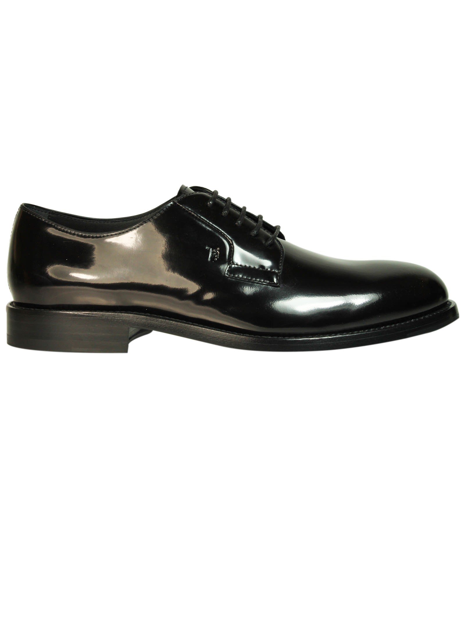 Tods Black Patent Leather Derby Shoes
