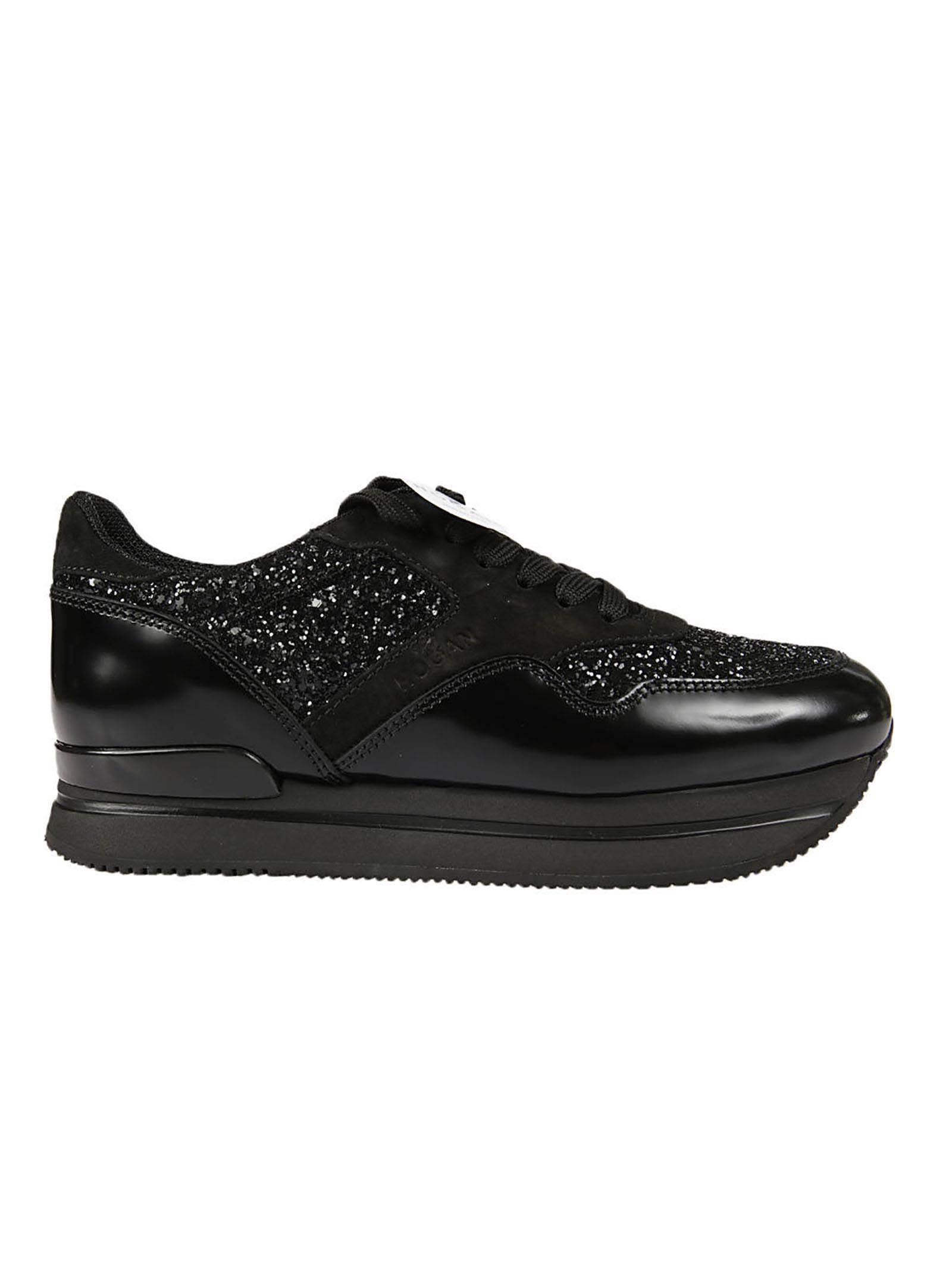 Hogan Glitter Effect Platform Sneakers