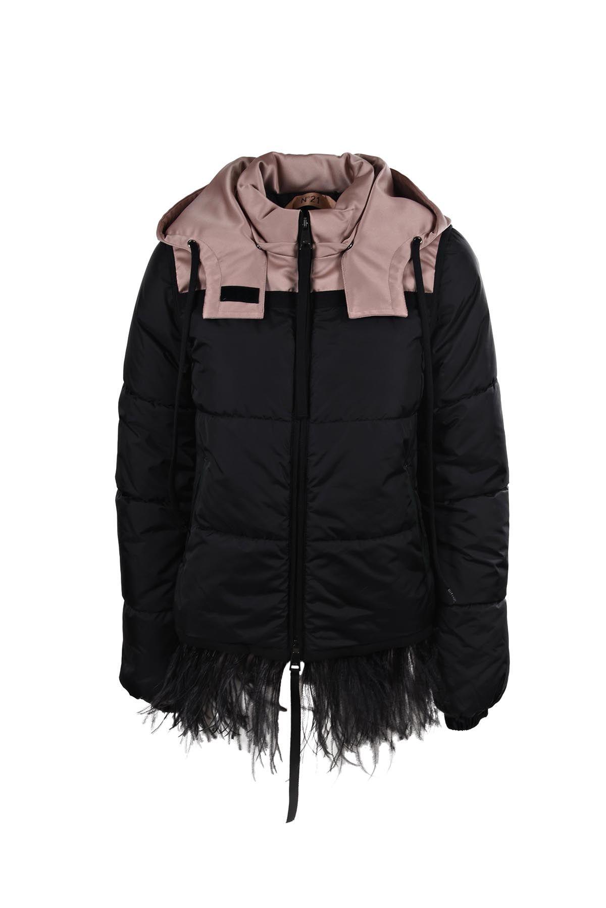 N.21 N°21 Frayed Hem Padded Jacket
