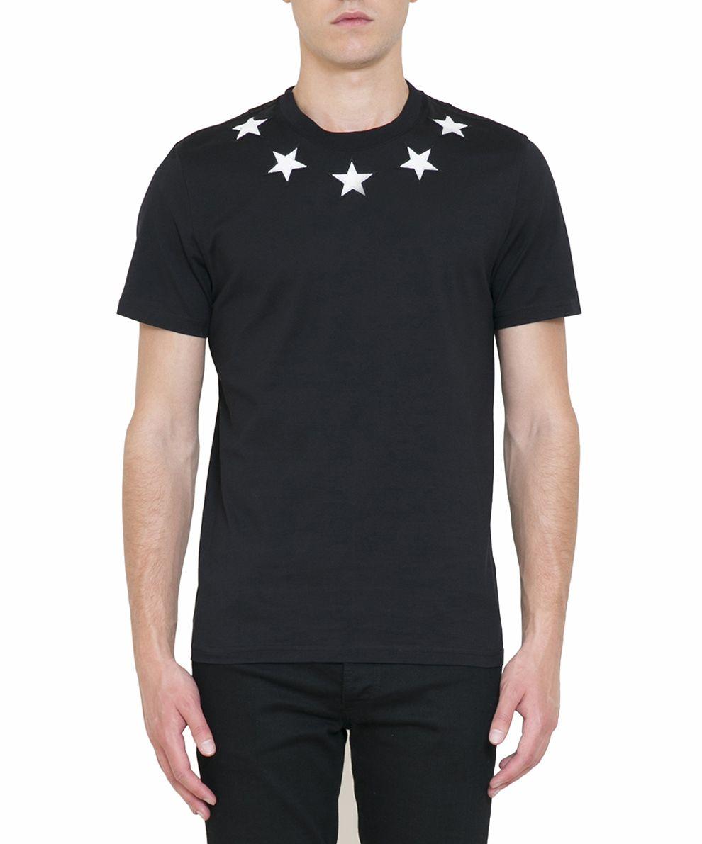 Givenchy Appliqué Stars Cuban Fit Cotton T-shirt
