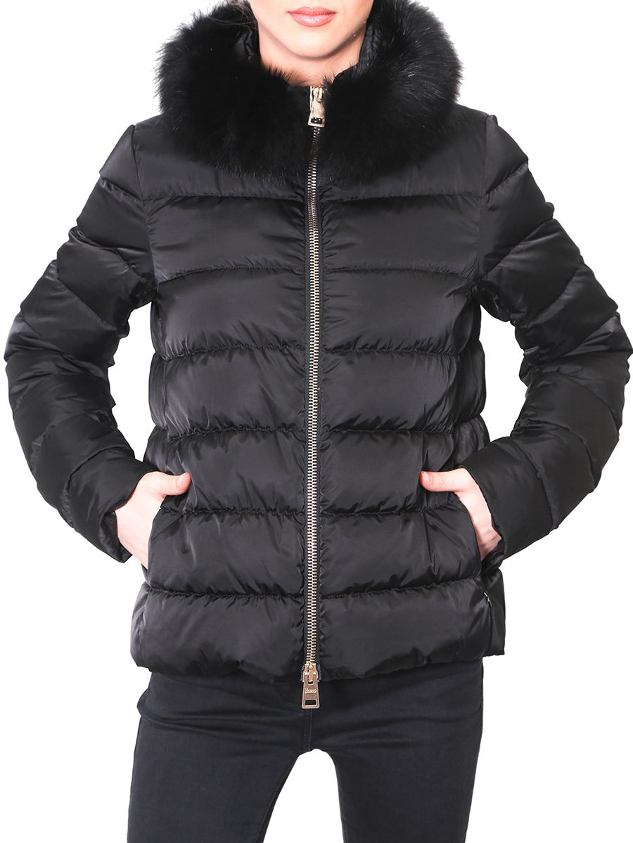 Herno - Down Jacket With Fur Insert On The Neck