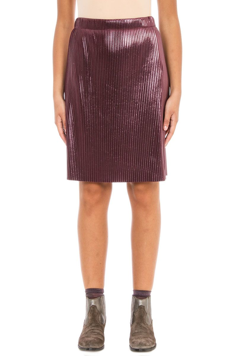 Golden Goose Fluid Fabric Purple Mid Skirt