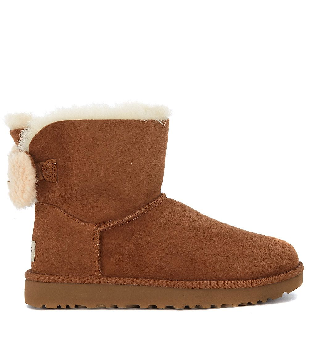 ugg ugg arielle ankle boots in brown leather and wool
