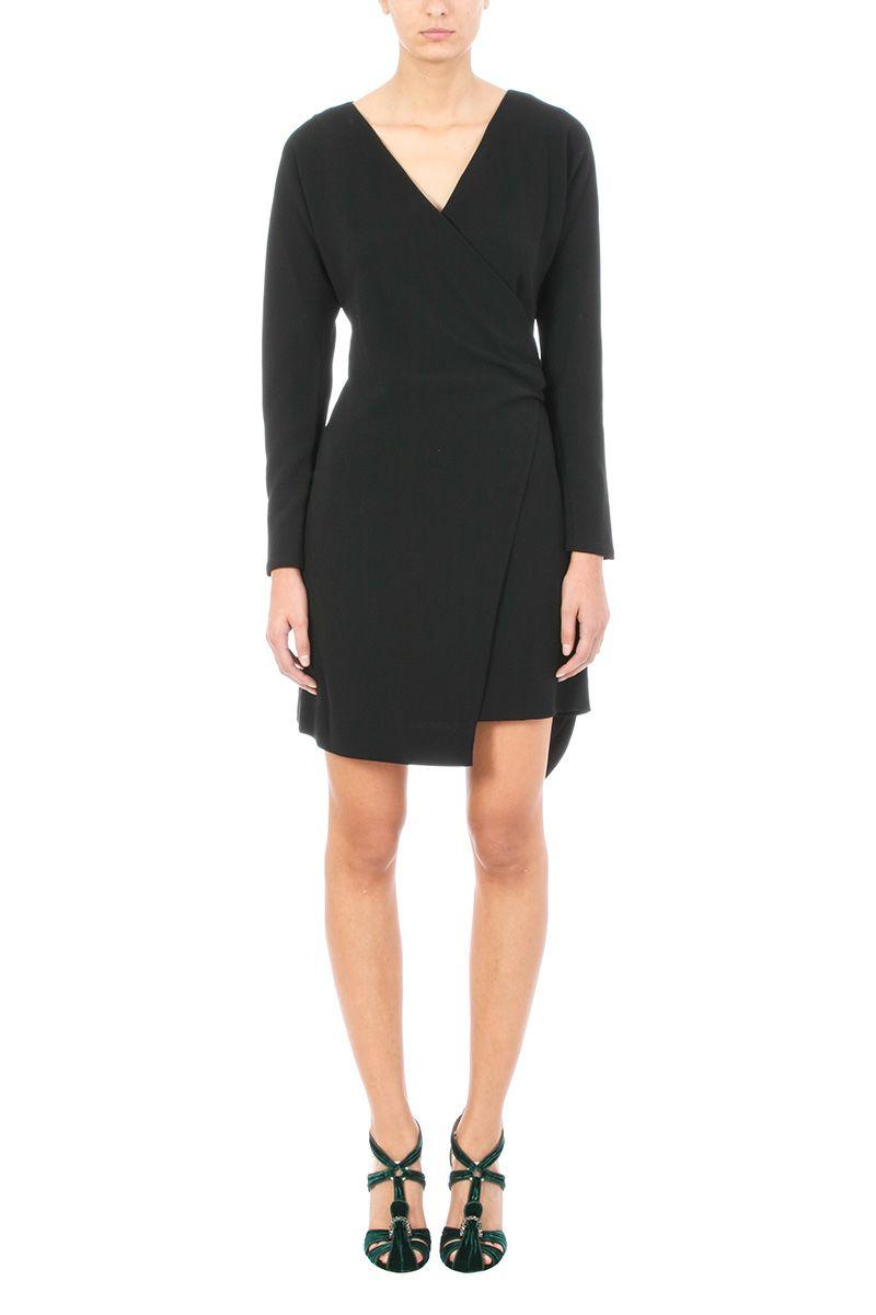 Diane Von Furstenberg Flared-hem Crepe Wrap Dress