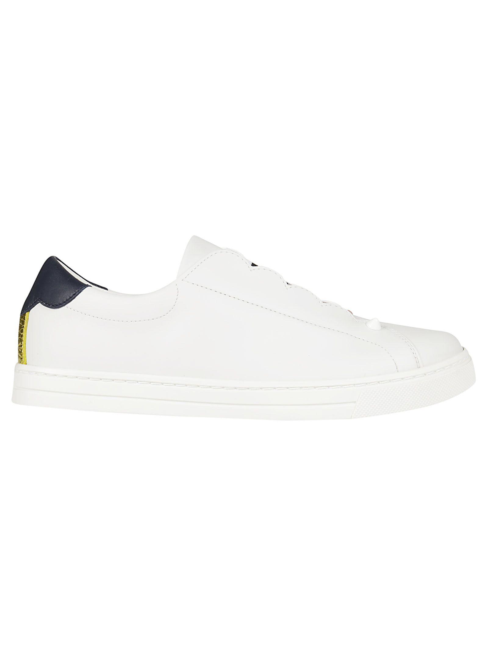 Fendi Logo Stripe Slip-on Sneakers