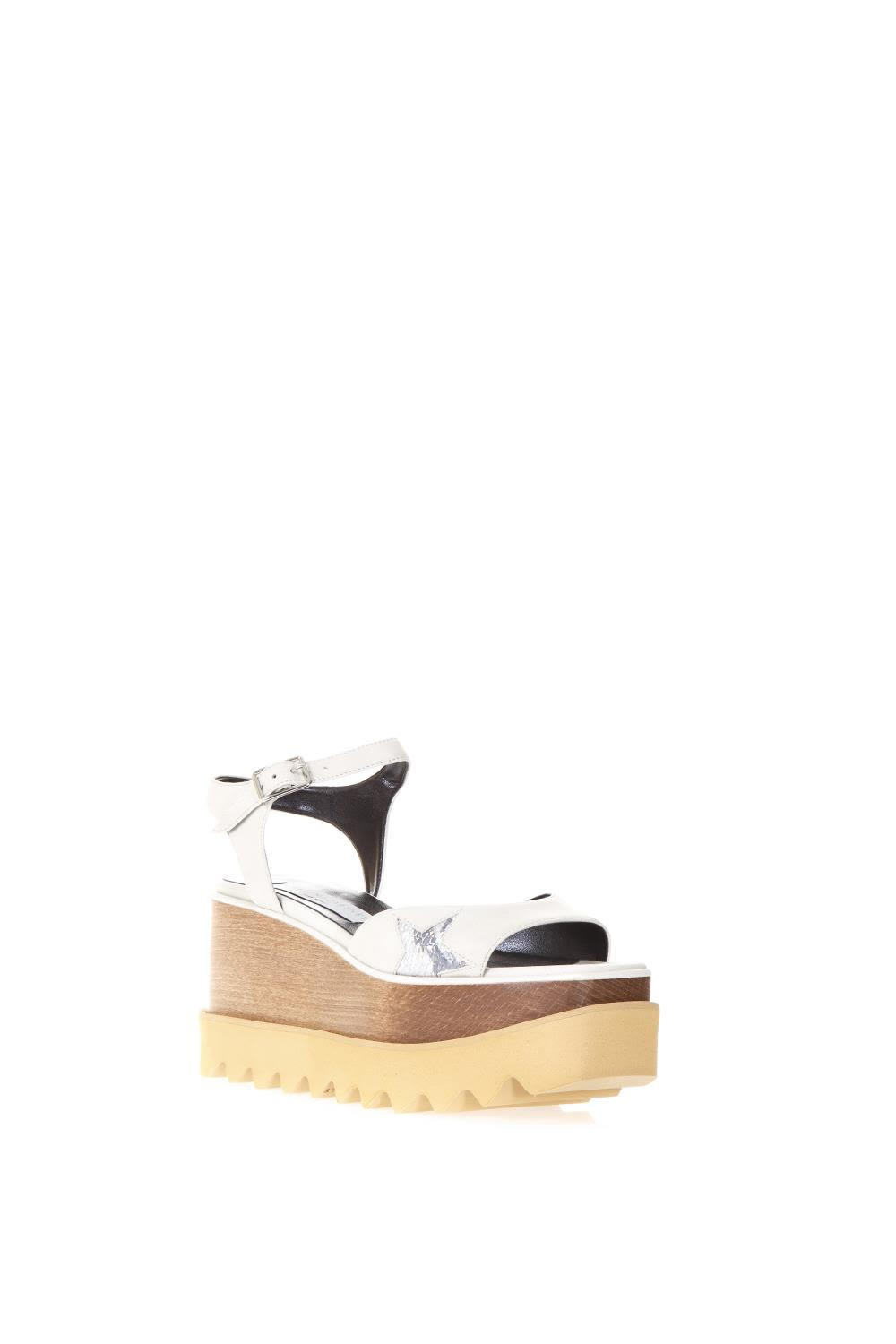 ELYSE WHITE FAUX LEATHER SANDALS