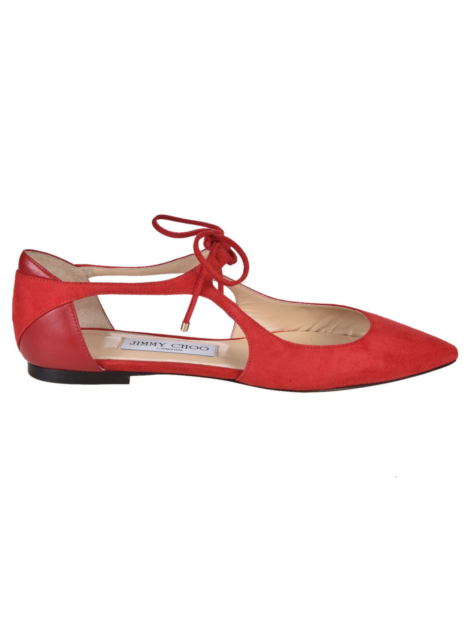 jimmy choo jimmy choo ballerinas rosso