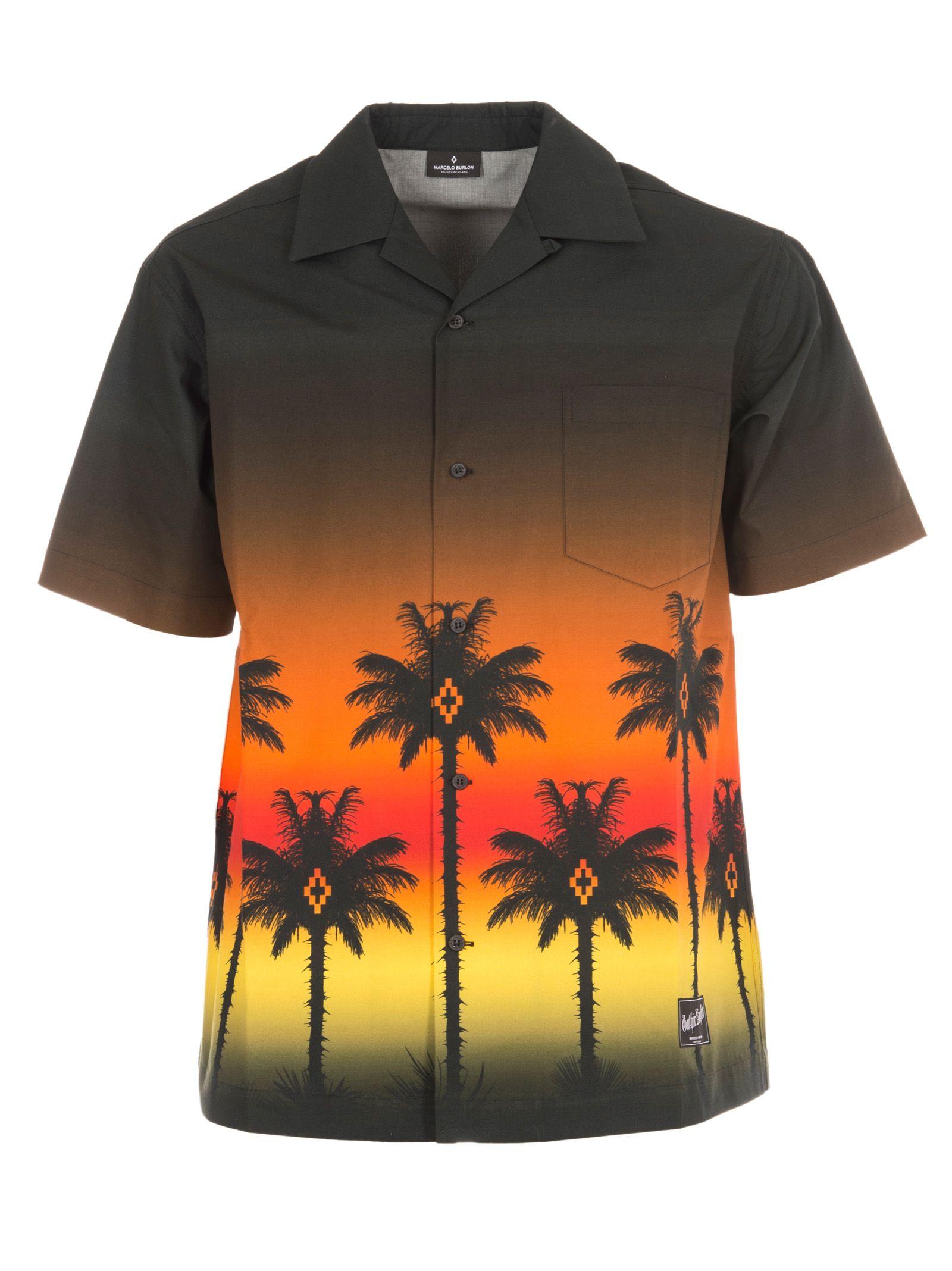 Marcelo Burlon Palm Sunset Short Sleeve Shirt