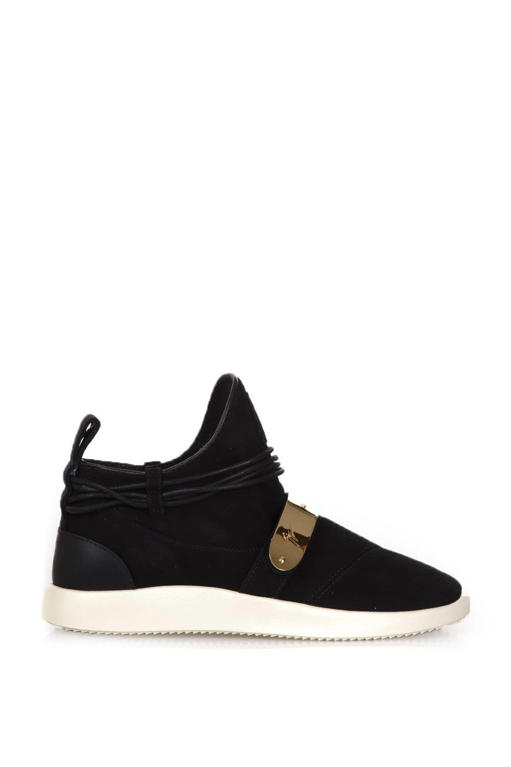 Giuseppe Zanotti Suede Slip-on Sneakers With Metal Plaque