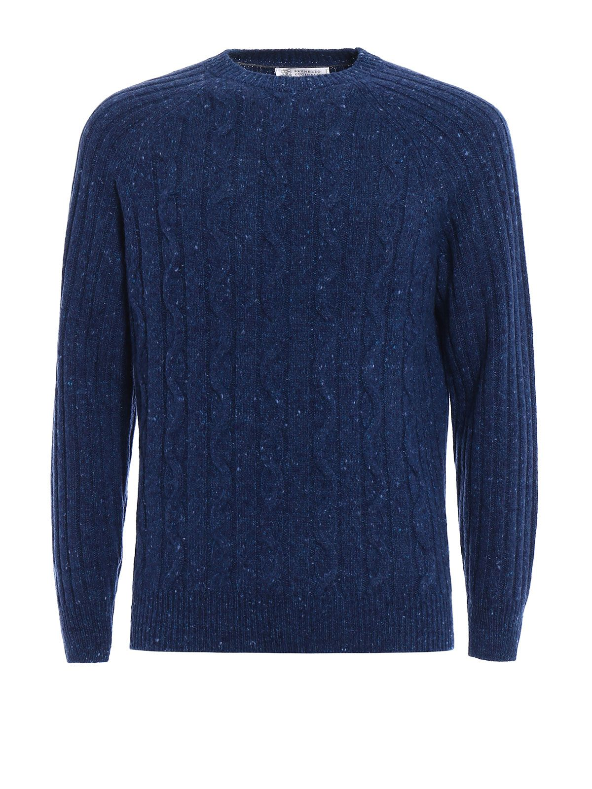 Twist And Rib Knitted Wool Sweater