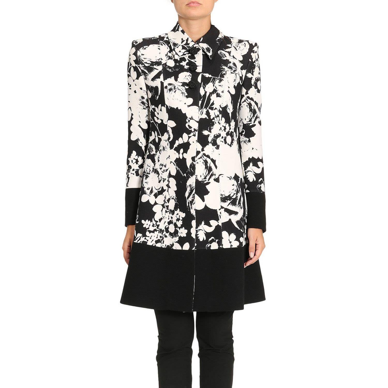 Floral Patterned Coat, Black
