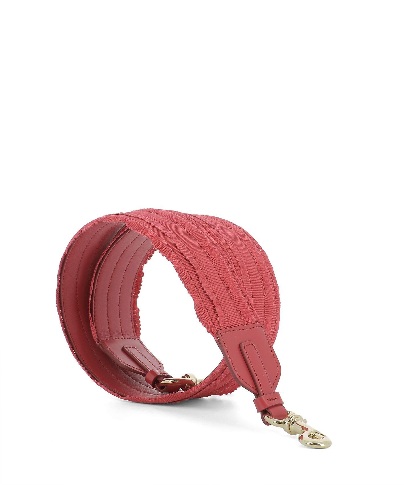 Red Fabric Shoulder Strap