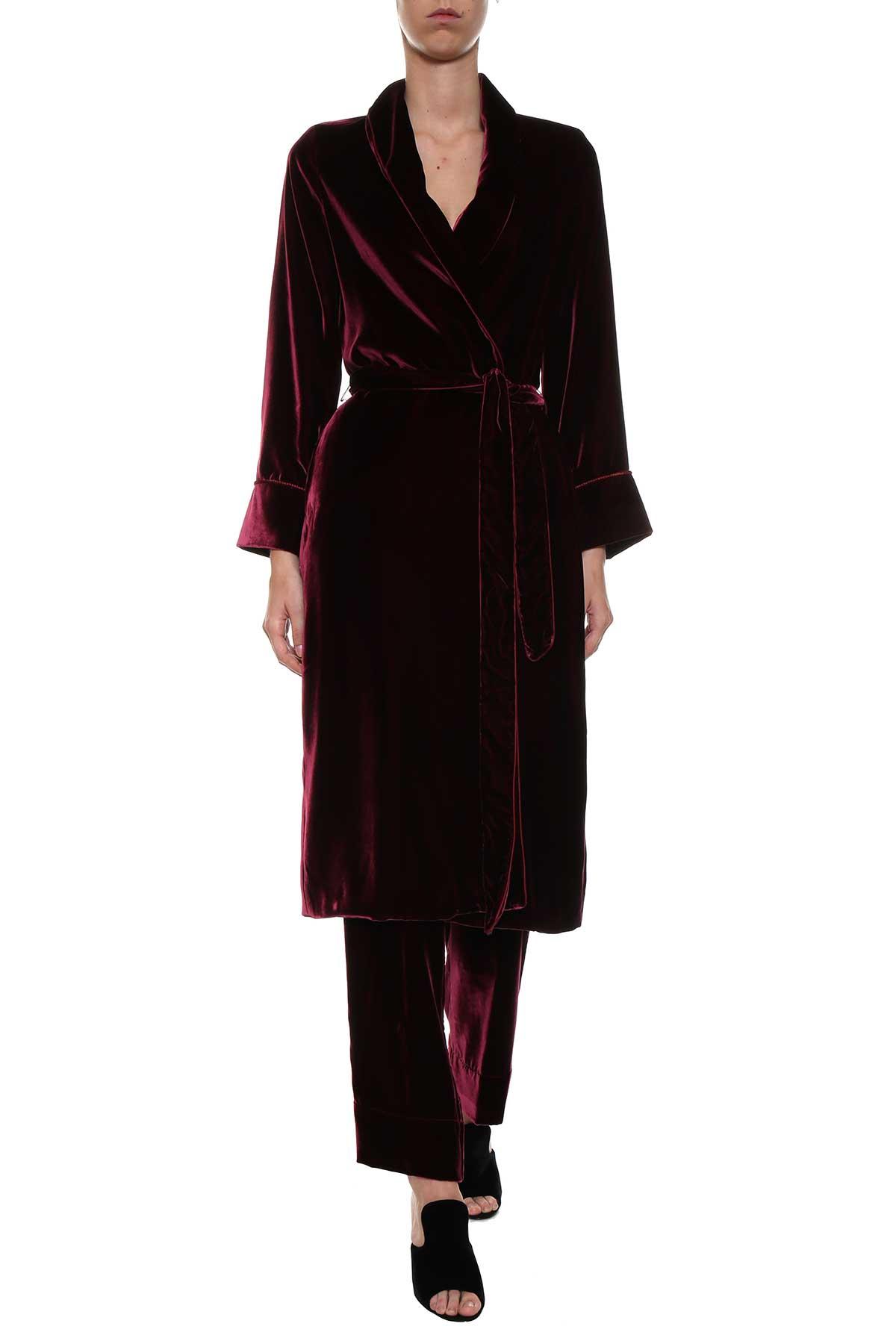 For Restless Sleepers For Restless Sleepers Velvet Robe Overcoat
