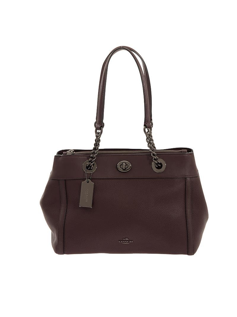 Coach Turnlock Edie Tote