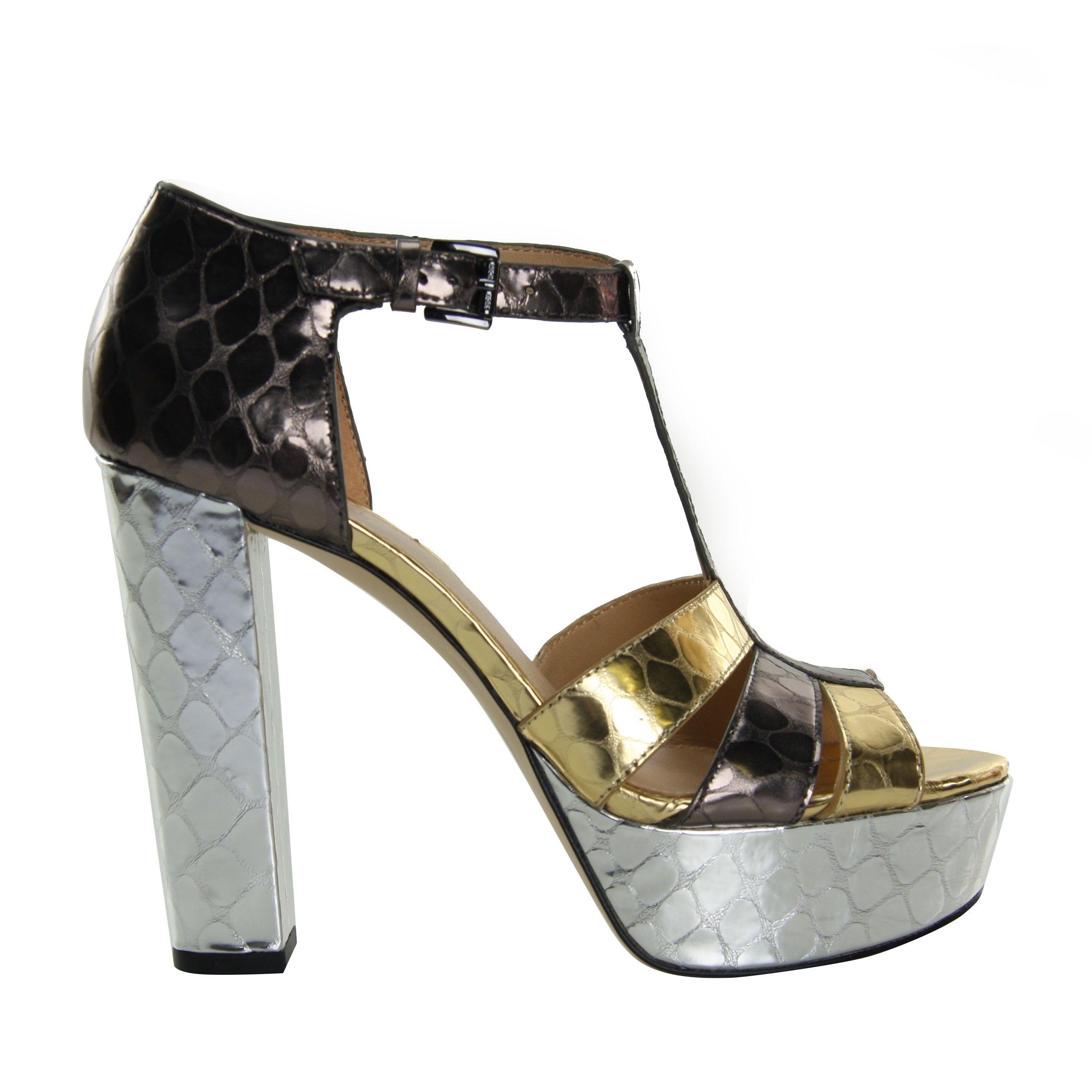Mercer Platform Sandals Michael Michael Kors Metallic