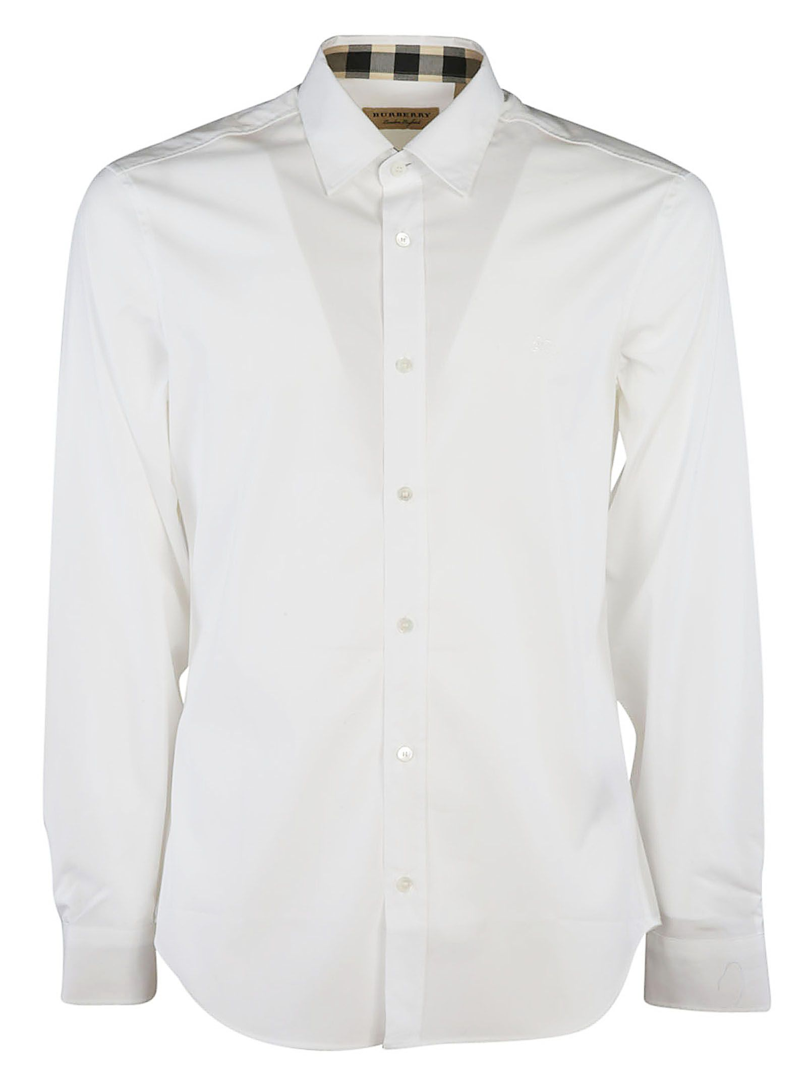Burberry Embroidered Chest Logo Shirt
