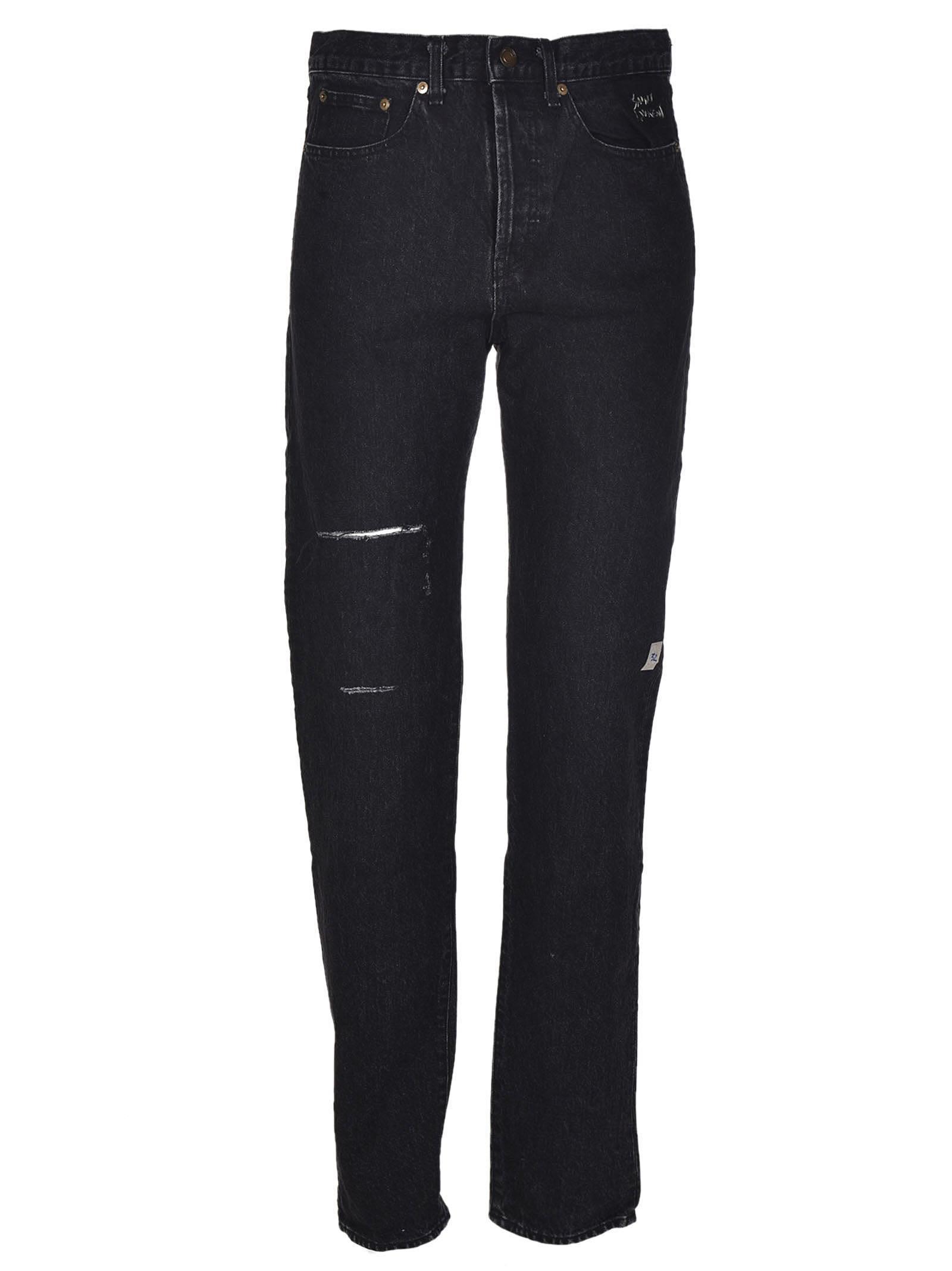 Saint Laurent Destroyed Slim Fit Jeans