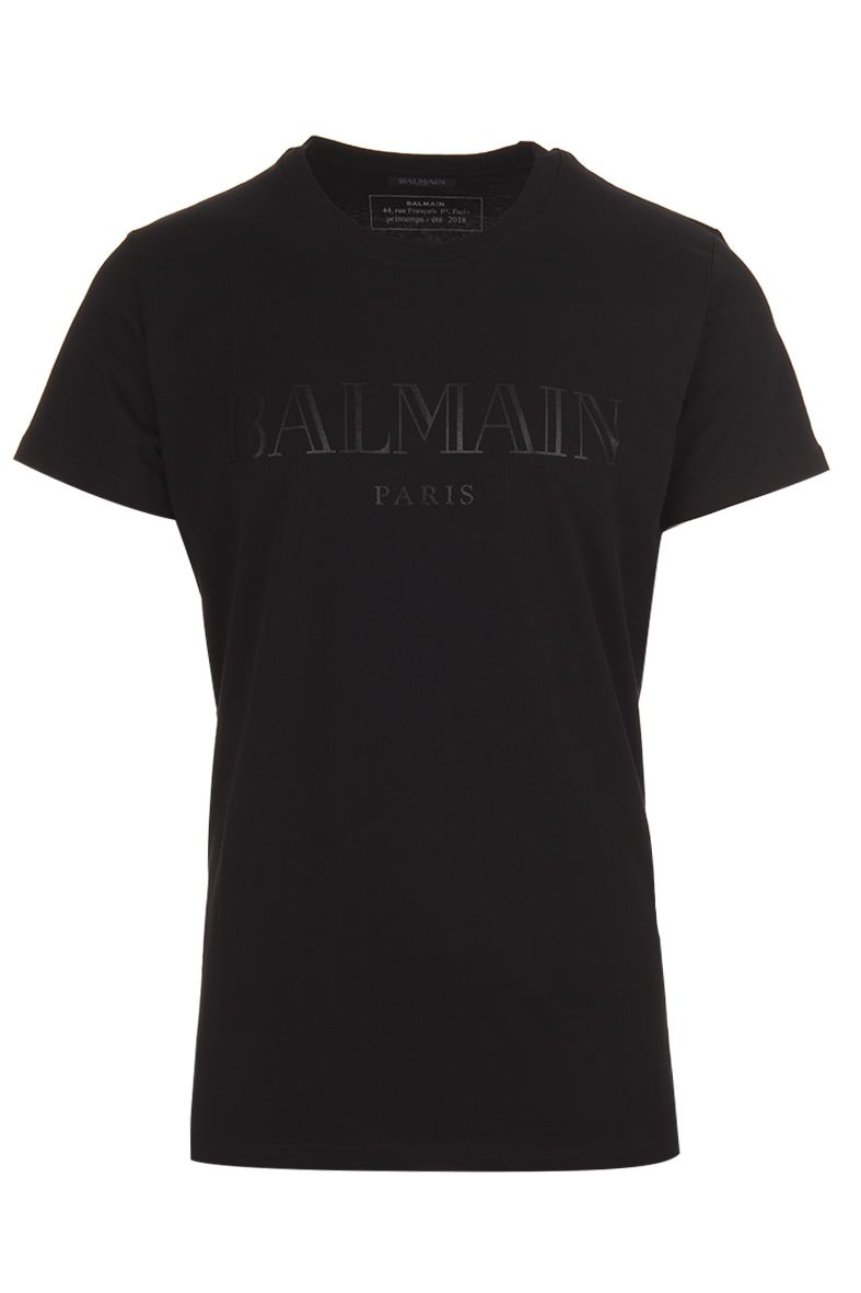 balmain balmain paris t shirt nero men 39 s short sleeve. Black Bedroom Furniture Sets. Home Design Ideas