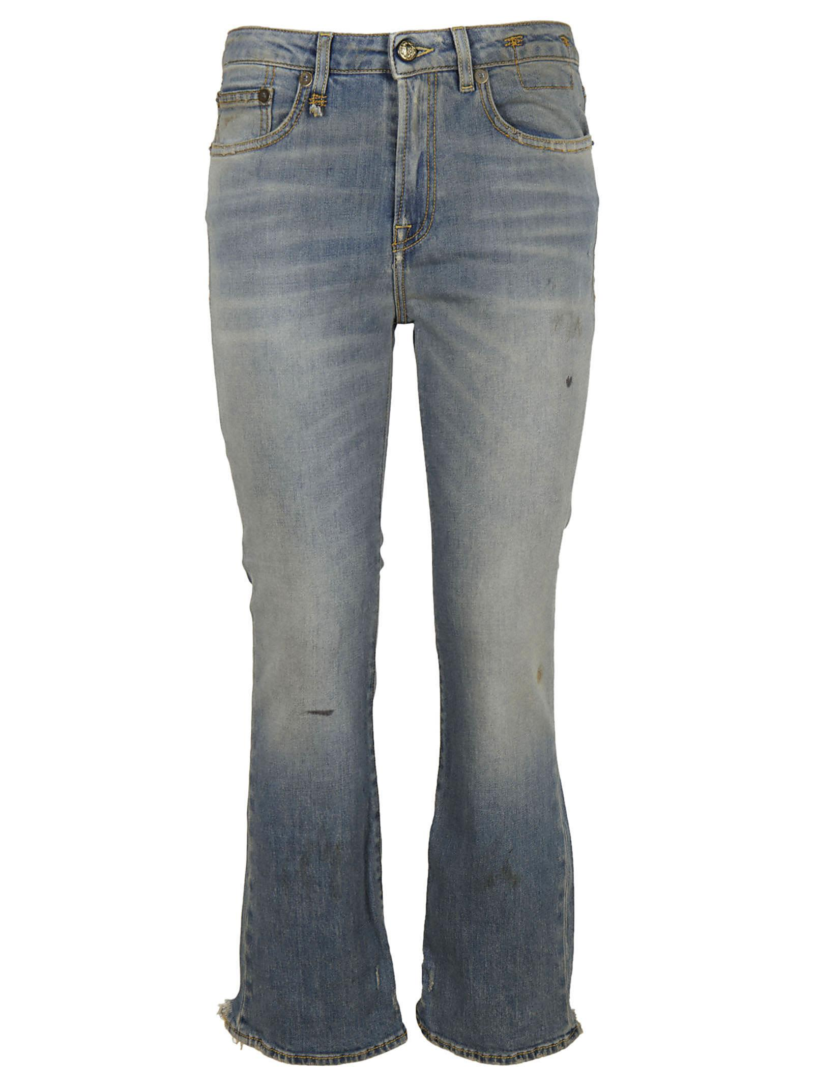 R13 Cropped Jeans