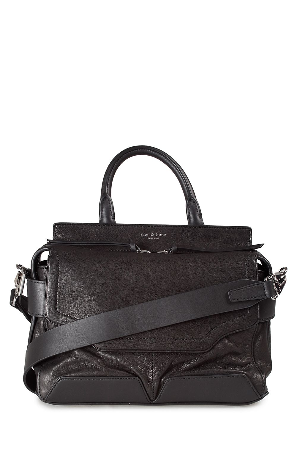 Rag & Bone Small Pilot Leather Shoulder Bag