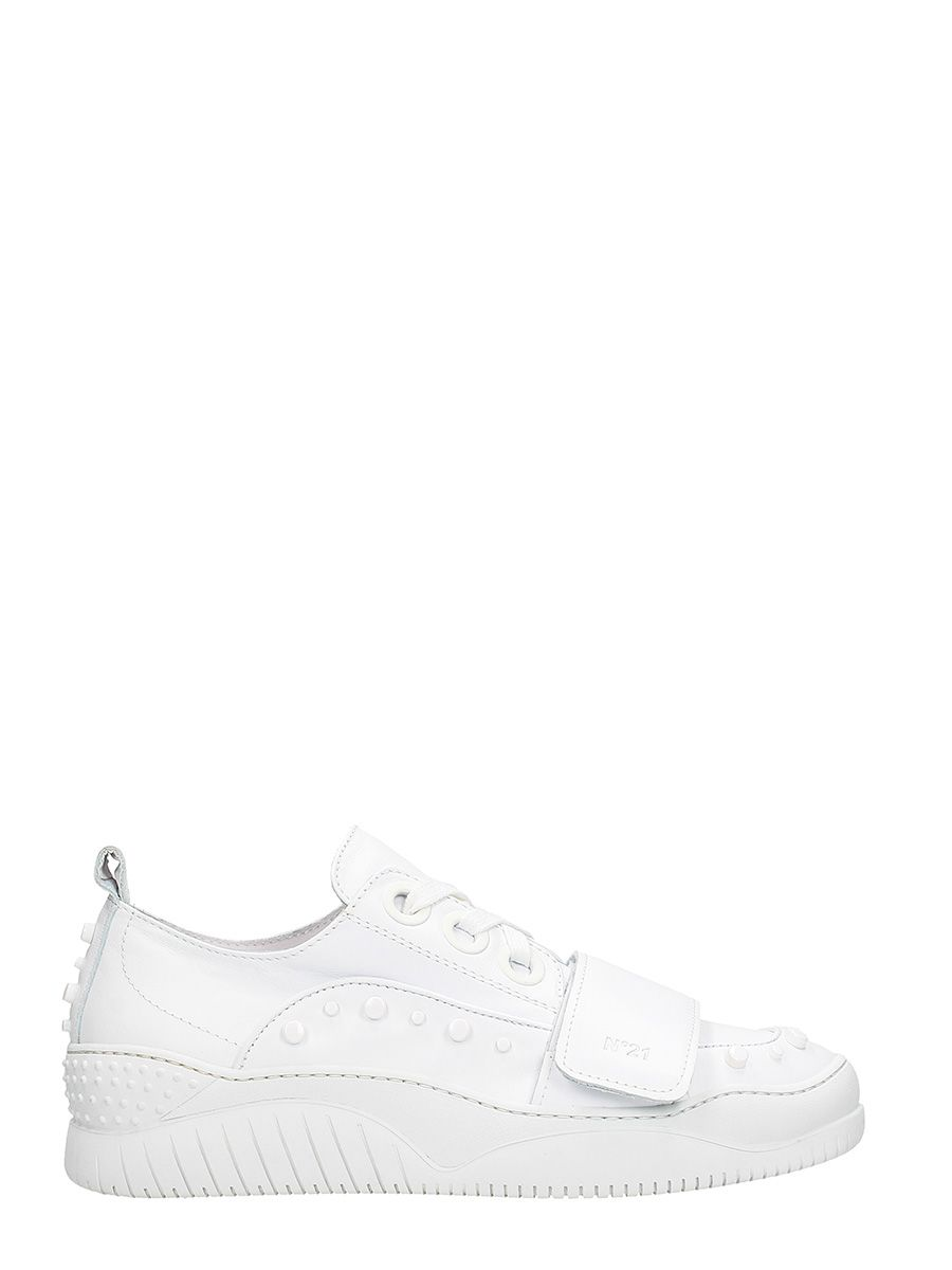 N.21 White Leather Sneakers