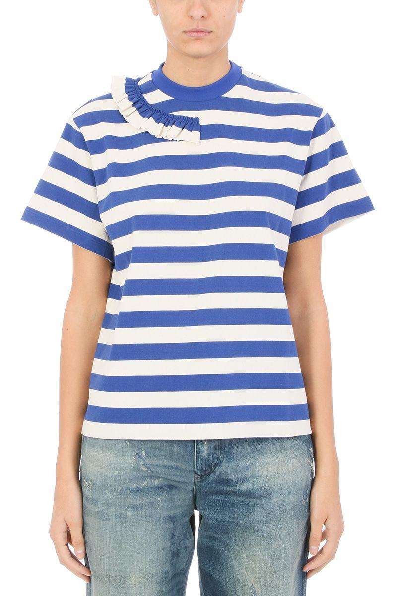 Golden Goose Gisa Blue White Cotton Tshirt