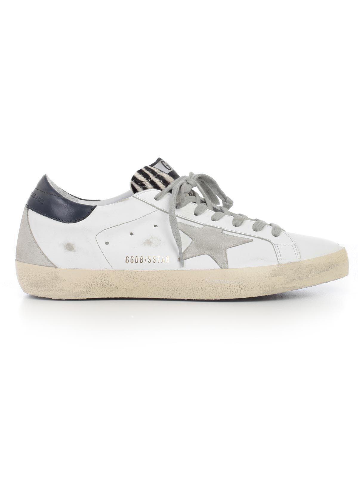 golden goose golden goose sneakers bwhite blue zebra cream sole men 39 s sneakers italist. Black Bedroom Furniture Sets. Home Design Ideas
