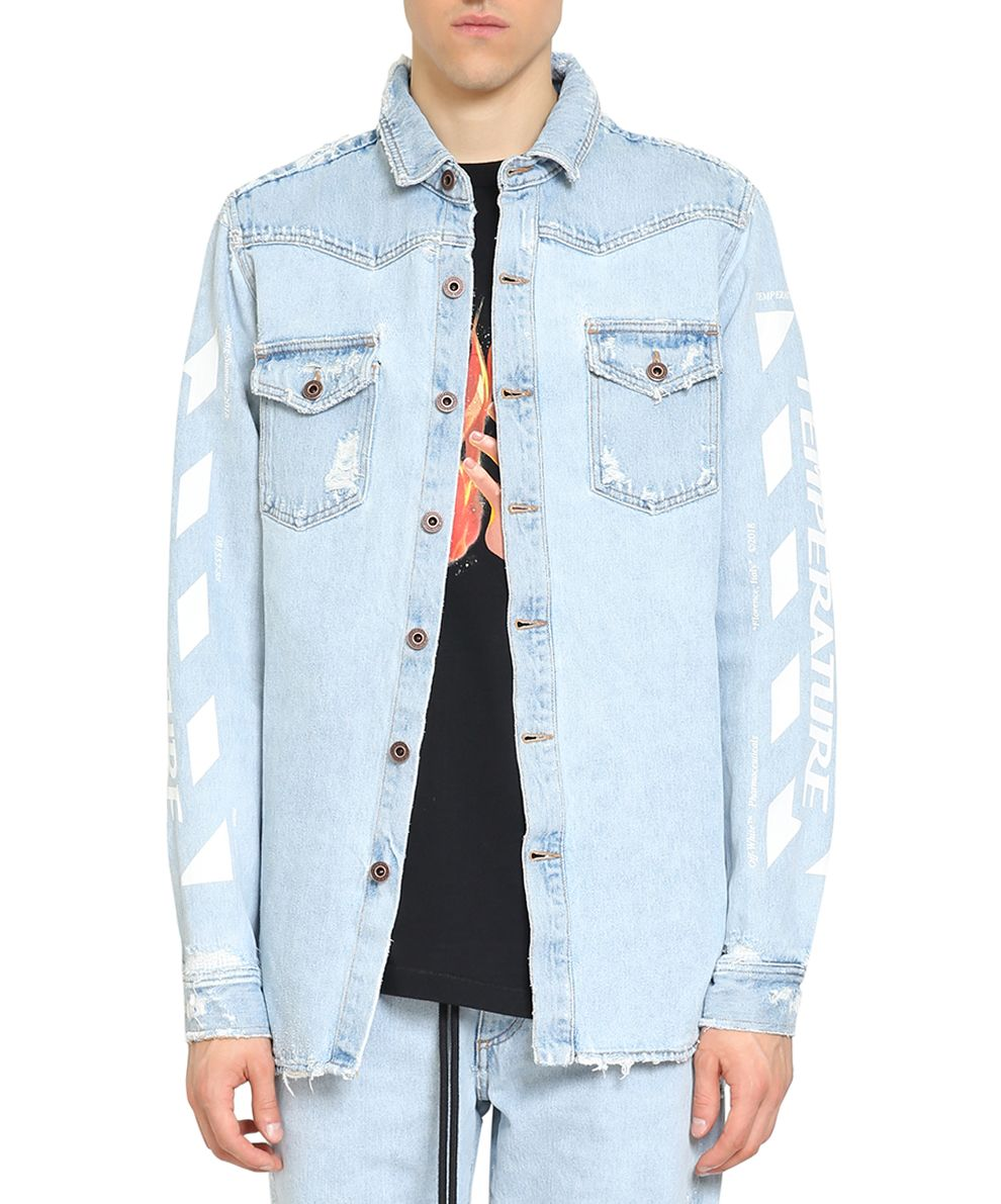 Off-White Temperature Denim Cotton Shirt