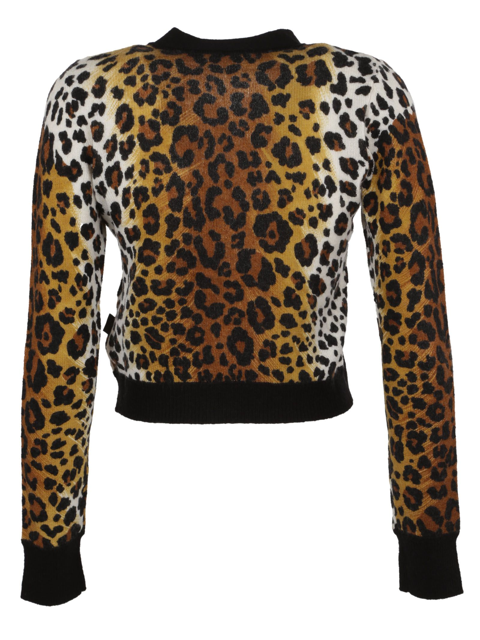 Love Moschino - Love Moschino Leopard Print Cardigan - Multicolor ...