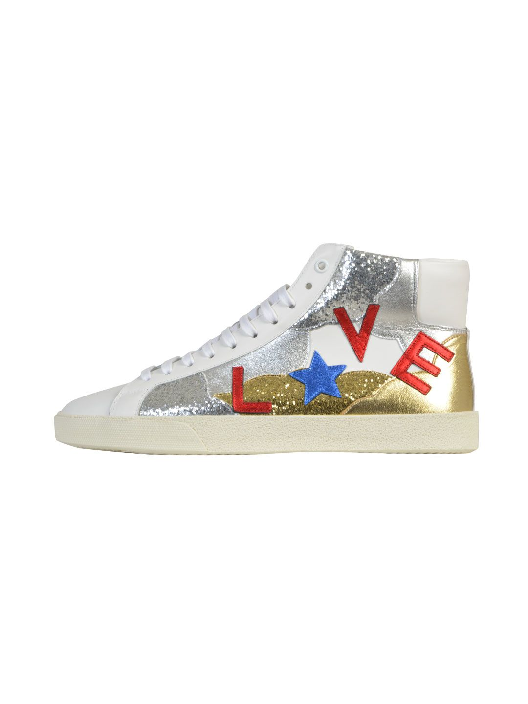 Saint Laurent Signature Court Classic Sl-06m Love Mid-top Sneakers