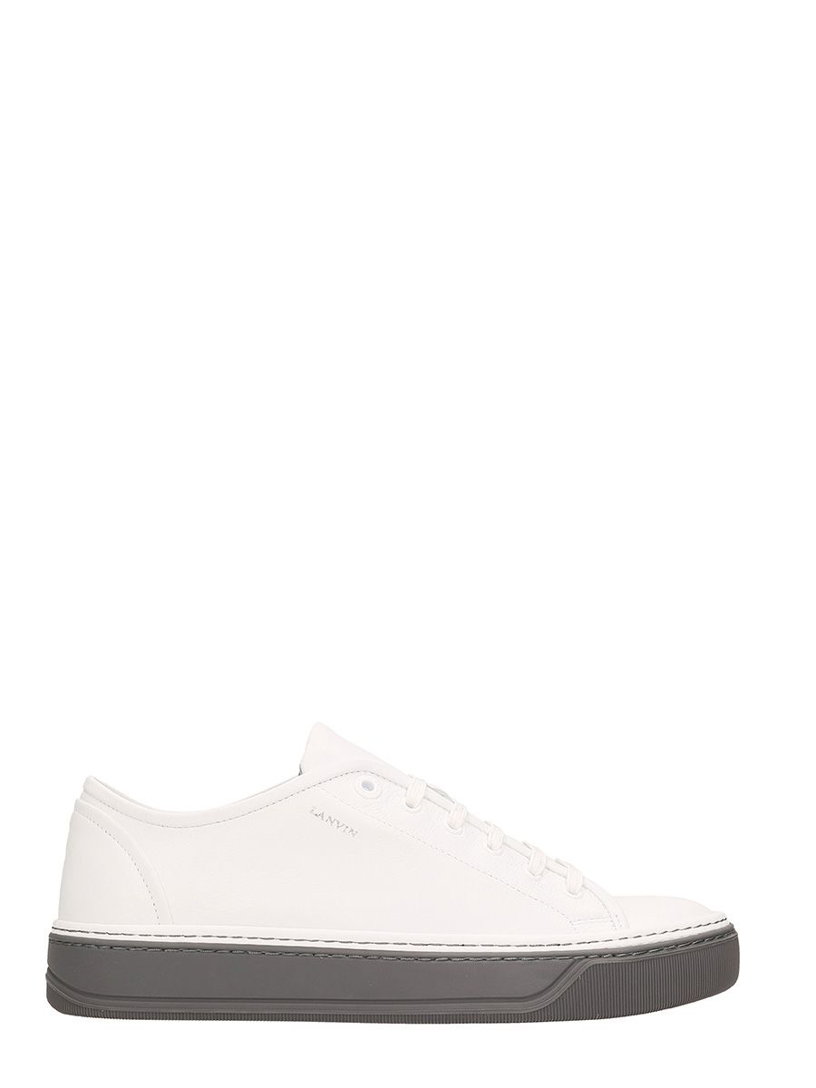 Lanvin Low Top Sneakers White Leather