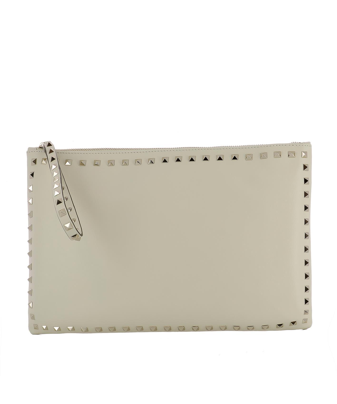 White Leather Pochette