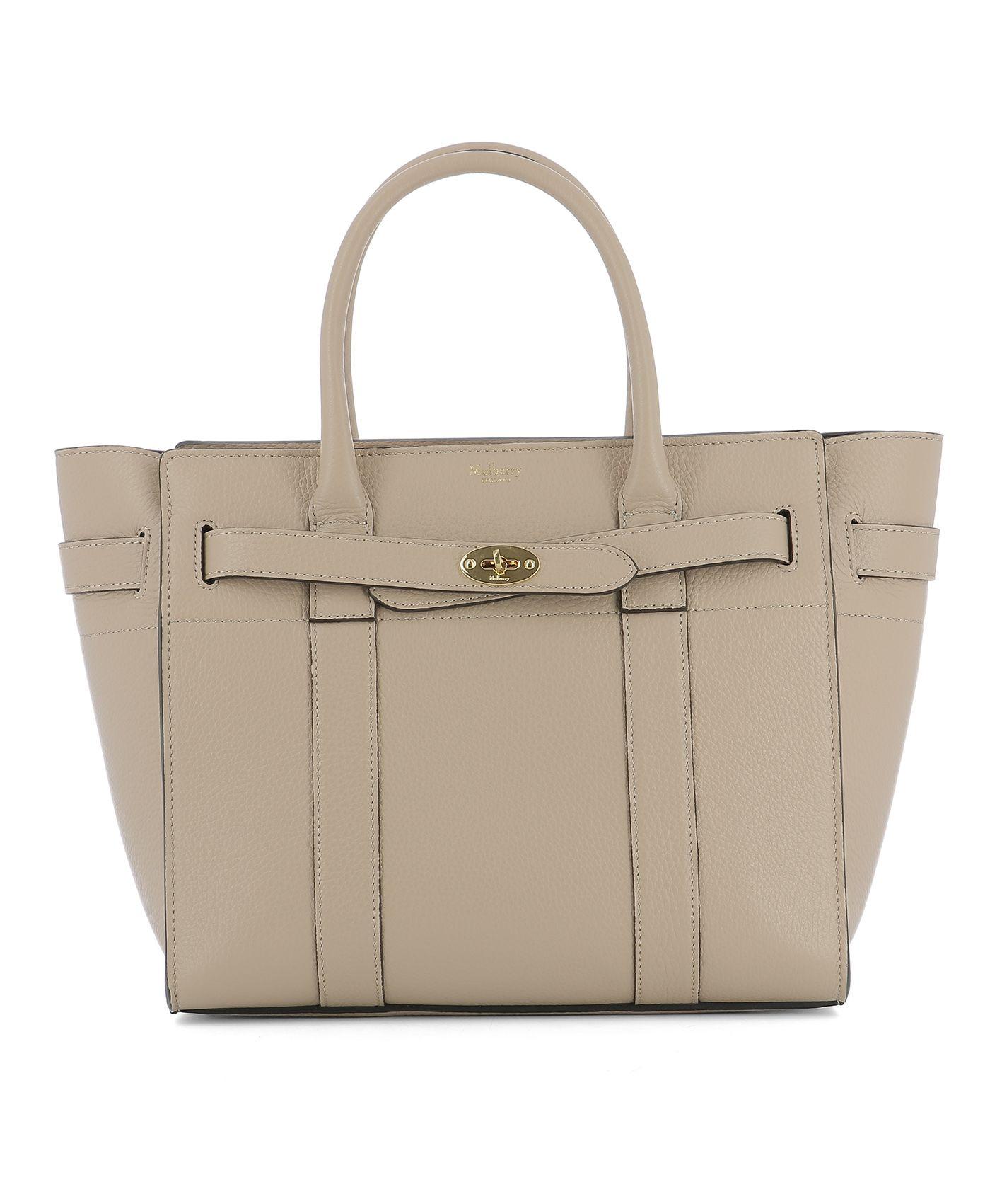 Pink Leather Handle Bag