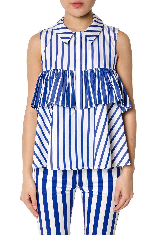 Dondup Striped Cotton Top