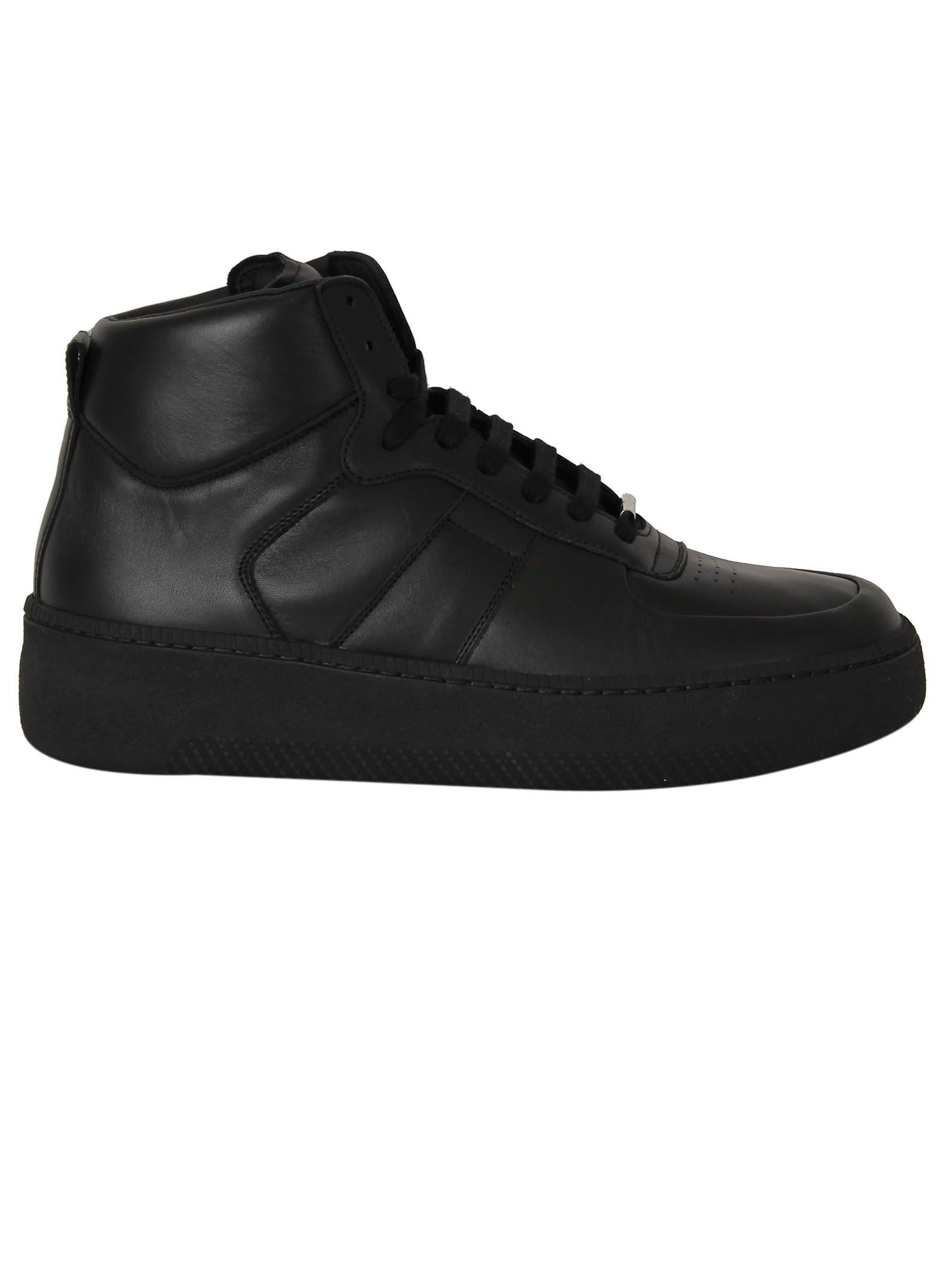 Maison Margiela Black Calf Hi-top Sneakers