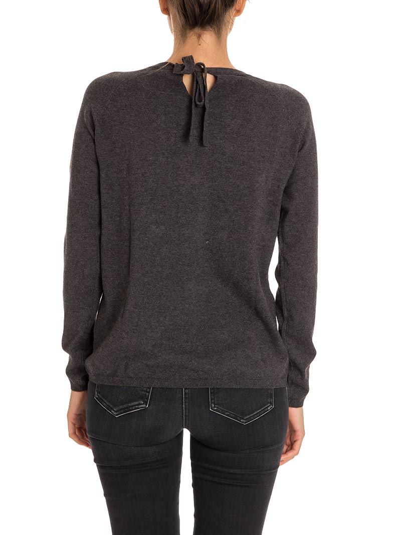Sun 68 - Sun 68 Cotton And Wool Sweater - DARK GREY, Women's ...