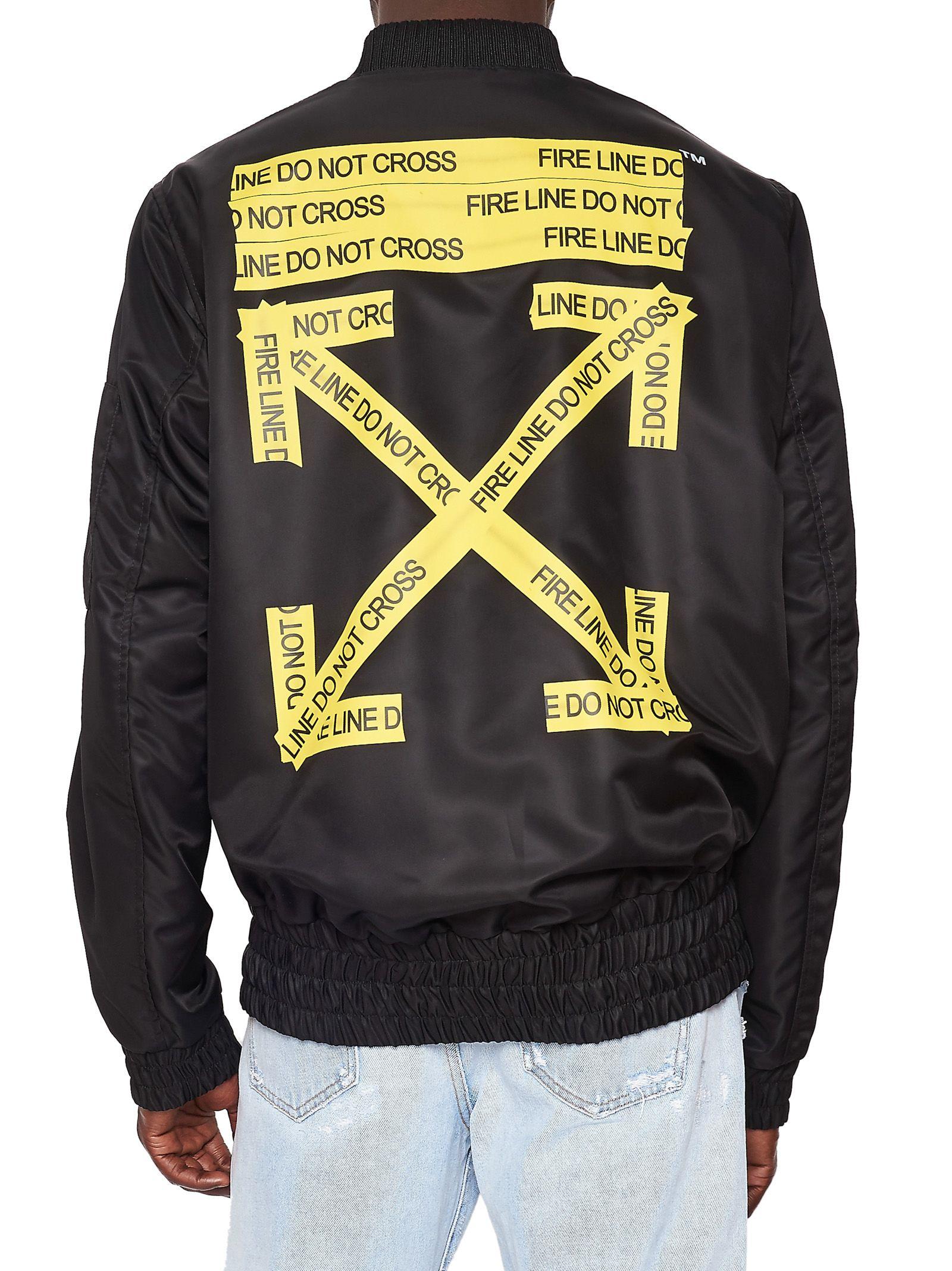 off white off white jacket black men 39 s jackets italist. Black Bedroom Furniture Sets. Home Design Ideas