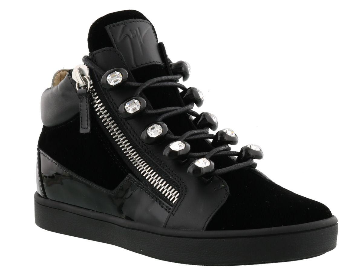 giuseppe zanotti giuseppe zanotti sneaker black silver women 39 s sneakers italist. Black Bedroom Furniture Sets. Home Design Ideas