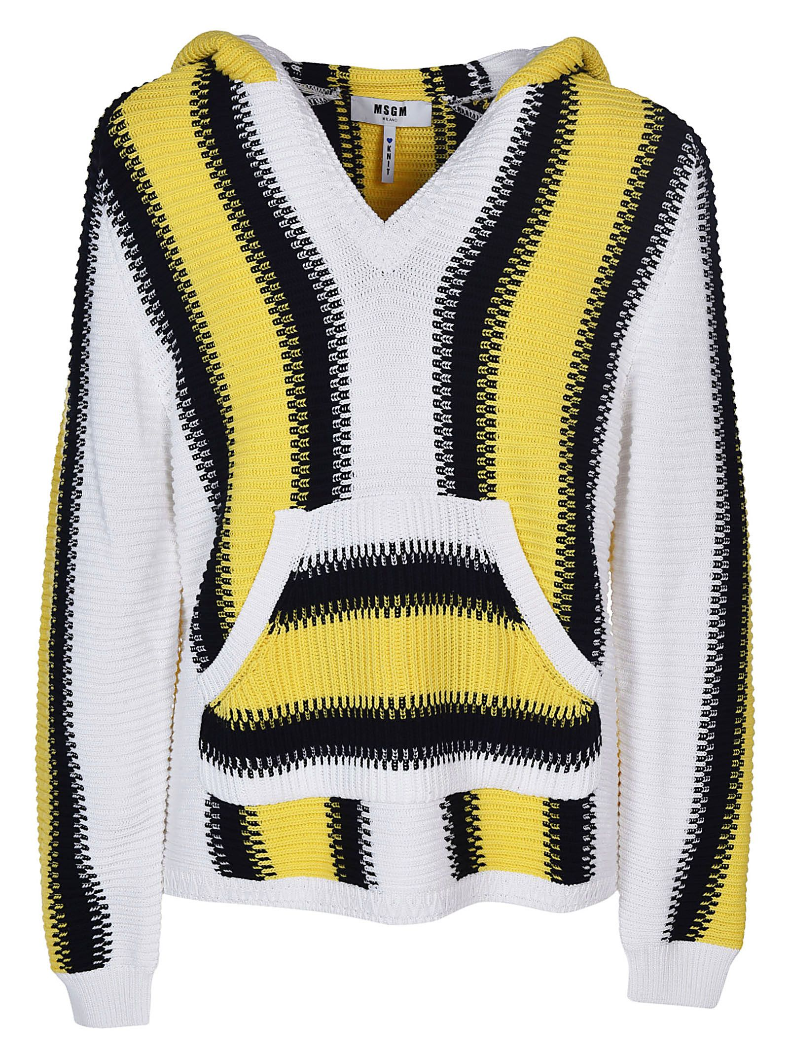 Msgm Knitted Hoodie
