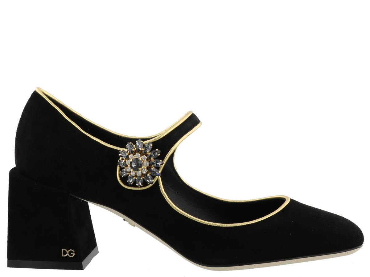 Dolce & Gabbana Button Detail Mary Jane Pump
