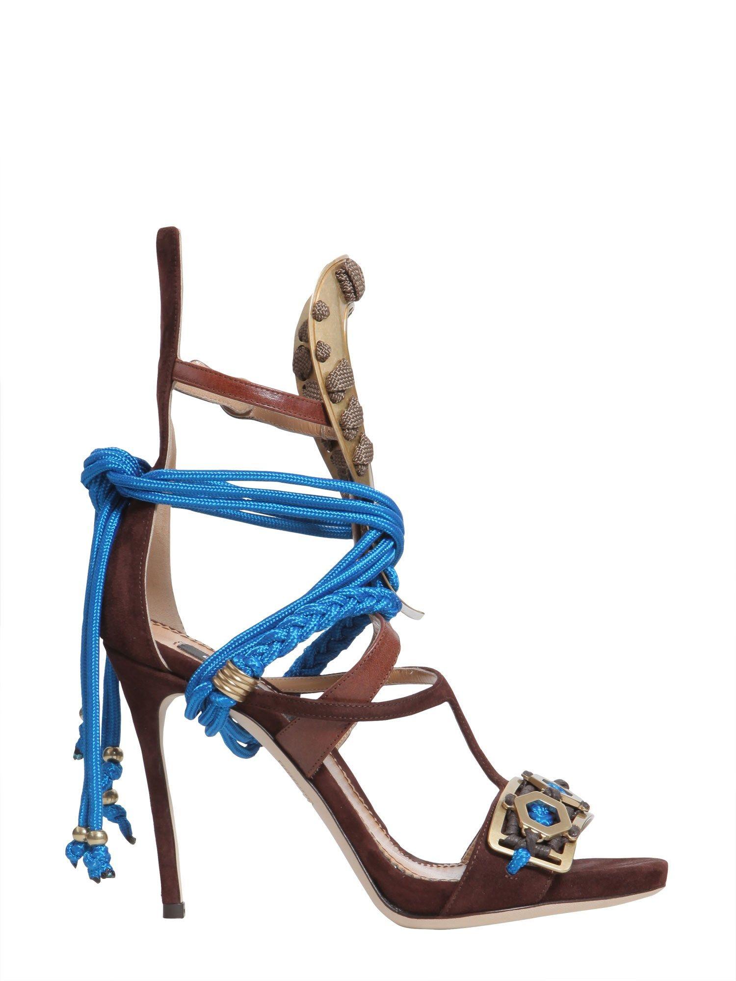 Samurai Sandal With Metal Inserts