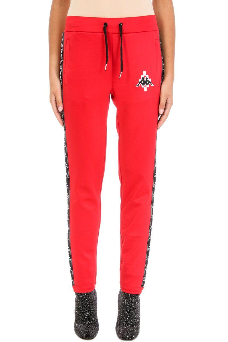 Marcelo Burlon Red Cotton Kappa Pants