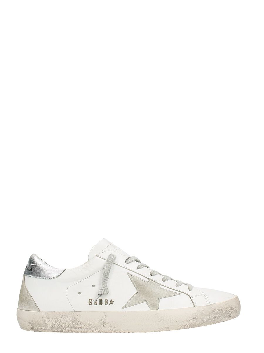 Golden Goose Superstar White Silver Sneakers