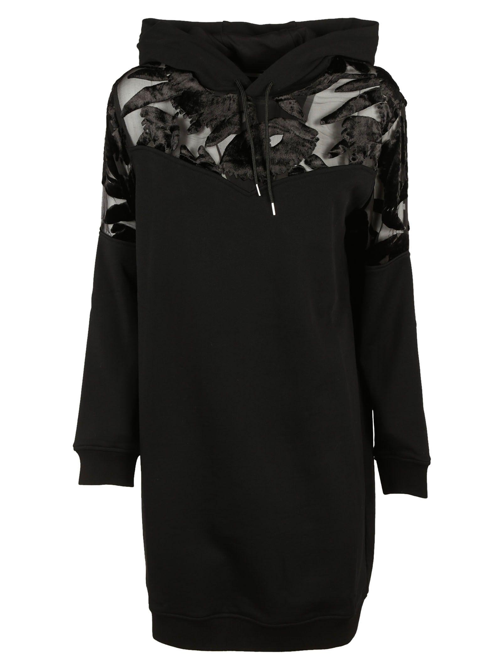 McQ Alexander McQueen Devore Mix Hoodie Dress